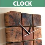A clock made from pallet wood blocks - UPCYCLING IDEAS