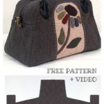 DIY One-Piece Fabric Quilt Bag Free Sewing Pattern + Video - Sewing patterns free - Yirmisekiz Blog