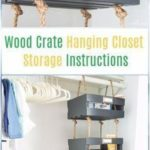 DIY Wooden Box Hanging Cabinet Storage Instructions - DIY Wooden Box Furniture Id… - DIY and DIY Wood