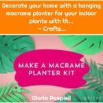Decorate your home with a hanging macrame planter for your indoor plants with th... - Crafts...