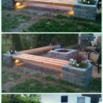 DIY propane fire pit & corner benches with landsca - decorations on your doorstep ideas