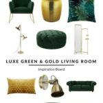 Luxe Green and Gold Living Room - Furnishfuls Living Room Ideas - Inspiration Boards - New Ideas