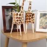 Gold Giraffe Planter / indoor planter / succulent planter