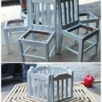 DIY Recycled Chair Around Tree Bench Instruction - Ways To Remove Old Chairs… - UPCYCLING IDEAS
