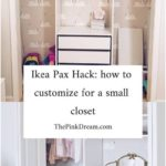 Ikea Pax hack: How to Customize a Small Closet with the Pax System | ikea pax cl...