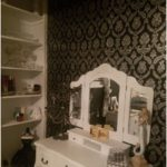 I used the small closet in my bedroom to create my vanity area.