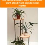 "Mid century plant stand ""M-C"" Indoor plant stand Indoor planters Mid century Modern Plant stand Wood plant stand Plant stands indoor Planter"
