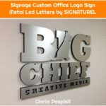 Signage Custom Office Logo Sign Metal Led Letters by SIGNATUREL