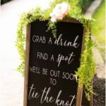 | modern wedding ceremony sign | modern rustic wedding decorations | wedding sig...