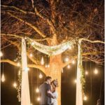 15 budget friendly wedding backgrounds and arches with trees for outdoor weddings - oh b ...