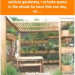 vertical gardening + private space in the shade So have this one day #G ...