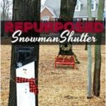 #Decoratedecorate #Redhead #Repurposed #shutter #Snowman Repurposed Snowman Shut...