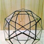 Small terrarium icosidodecahedron Stained glass terrarium Glass decoration Planter for indoor gardening Geometric terrarium Christmas gift