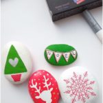 Christmas rock painting with artistro - diy project - garden plant ideas - my blog