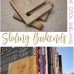 This Scrappy Saturday project slides bookends for open shelves. This Slidi #woodendiy - wood projects