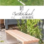 DIY - Garden bench with concrete and wood - Leelah Loves