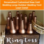 Ring Oversized Toss Ringtoss Personalized Customized Rose Gold Wedding Large Outdoor Wedding Yard Lawn Game!