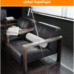 Pujol Tub P-45 floor lamp, matt nickel PujolPujol