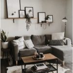home decor | living room | apartment decoration | small space | grey sofa | mode...