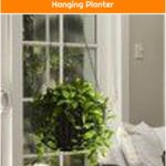 Schutt Round Self-Watering Resin Hanging Planter
