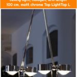 Top Light Puk Ceiling Sister Twin ceiling light, halogen, arm length 100 cm, matt chrome Top LightTop L