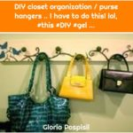DIY closet organization / purse hangers .. I have to do this! lol, #this #DIY #gel ...