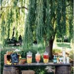 18 Unique & Creative Wedding Drink Bar Ideas for Outdoor Wedding - #Bar #Creativ...