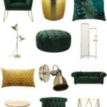 Luxurious living room in green and gold - Furnishfuls living room ideas - Inspira ...