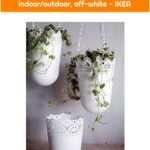 SKURAR Hanging planter - off-white indoor/outdoor, off-white - IKEA