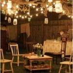 Retro garden party decoration with simple furniture and lighting #bathroom #bath ...