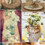 Country Rustic Canvas Lace Wedding Centerpiece Ideas - For Wedding