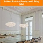 Arturo Alvarez designer pendant lamp Tati Ø 57cm in white Tati Ta04 white cable transparent living light