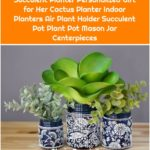 Succulent Planter Personalized Gift for Her Cactus Planter Indoor Planters Air Plant Holder Succulent Pot Plant Pot Mason Jar Centerpieces