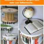 Turn a Cable Spool into a Bookshelf...awesome upcycle idea! mehr zum Selbermache...