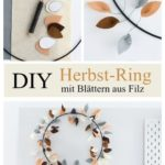 DIY in autumn: Colorful autumn ring with leaves made of felt