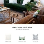 This earthy, glamorous, green living room from Suburban B has been ... - #this ... - Jule H. - Home Decor