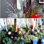 Beautiful winter planter ideas for your outdoor Christmas decorations. These ver...