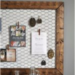 Best DIY Ideas with Chicken Wire - DIY Office Memo Board - Rustic Farmhouse