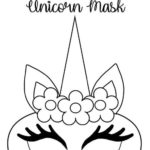 Monocero's face masks with FREE printable templates Simple Mom Project