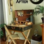 suitcase desk from a closet trunk, diy, how to, painted furniture, repurposed ... - UPCYCLING IDEAS
