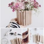 Upcycling made easy: DIY DIY vase made of wood