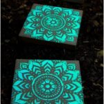 Paving stones painted with glow in the dark - Diygardensproject.live