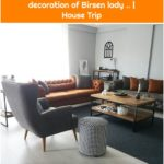The warm energy of burnt orange and gray harmony. The wonderful decoration of Birsen lady .. | House Trip