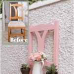 How to turn a chair into a garden planter and a shelf - garden crafts - haso blog