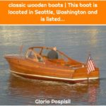 classic wooden boats | This boat is located in Seattle, Washington and is listed...