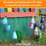 34 simple and inexpensive DIY ideas to beautify the garden and yard