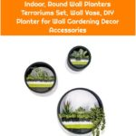 3 Pcs Metal Wall Hanging Planter Indoor, Round Wall Planters Terrariums Set, Wall Vase, DIY Planter for Wall Gardening Decor Accessories