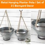 Metal Hanging Planter Pots I Set of 2 | Barnyard Decor