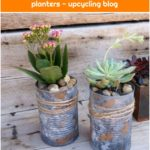 15 cute ways to turn tin cans into planters - upcycling blog