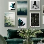 Green banana leaves poster - home accessories blog